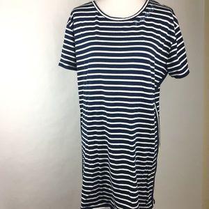 Junk Food Blue White Stripe T-shirt Dress
